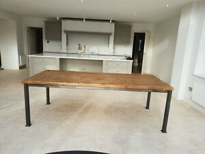 Rustic Industrial style hand made dining table