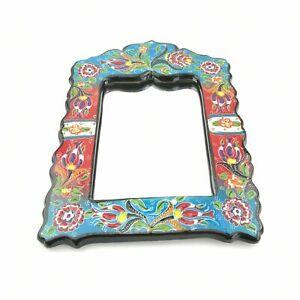 Hand Painted Ceramic Framed Pentagon Mirror - Handmade Turkish Pottery