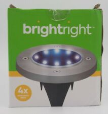 New 4-Pack BRIGHTRIGHT Solar Porch Walkway Garden Outdoor Lights