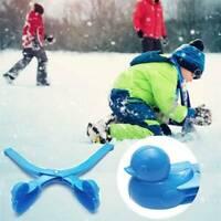 2 x Duck Snowball Clip Winter Snow Ball Maker Sand Mold Tool Sports Kids Toy UK