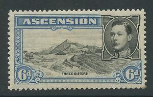 Ascension Island SG43a 1944 6d. black & blue P13