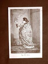 Un Bonzo nel 1883 Monaco buddhista cinese Cina Moda e costume
