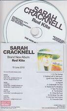 SARAH CRACKNELL Red Kite 2015 UK 12-trk promo test CD Nicky Wire Saint Etienne