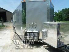 New 85 X 22 22 Enclosed Concession Food Vending Bbq Mobile Kitchen Trailer