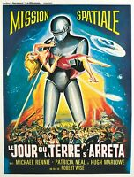 "VINTAGE Scifi movie poster CANVAS ART PRINT  8"" X 12"" Mission Spatial"