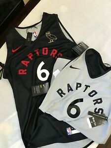 OVO x Raptors Practice Jersey Nike 6 Special Black Reversible Gold Owl M & L
