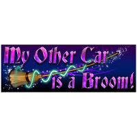 My Other Car is a Broom Bumper Sticker Car Vinyl Decal Witch Wicca FREE SHIPPING