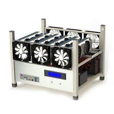 Aluminium Argent 6 GPU Open-air Mining Cadre Rig Case for Ethereum, ETH BitcoYT