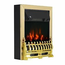 Homcom Electric Fireplace 1 & 2kw LED Fire Flame Living Room Burning Effect