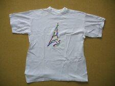 Vtg EIFFEL TOWER La Tour France White Colorful PARIS T-SHIRT Size Adult MEDIUM