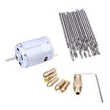 Mini Electric Hand Drill Small 12V Motor + 0.8-1.5mm Twist Drill Bit Rotary Tool