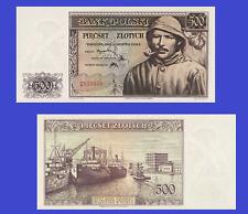 Poland 500 zloty 1939 UNC - Reproduction