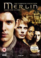 MERLIN THE COMPLETE COLLECTION SERIES 1-5 DVD BOX SET 1 2 3 4 5 BBC SEASONS NEW