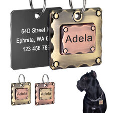 Pet Cat Dog Name Tags Personalized Engraved Front&Back Side Custom ID Nameplate