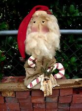 Primitive pattern Santa's Candy Canes a primitive Santa Head To Make  #OCC