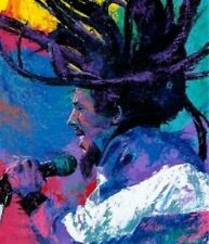 Bob Marley Art Giclee on Stretched Canvas Signed by Artist Bill Lopa /LE