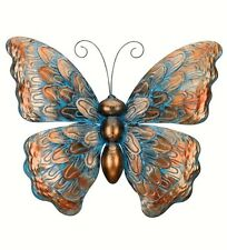 "Copper Patina Butterfly Wall Art Decor Metal Hanging Indoor Outdoor Decor 19""W"
