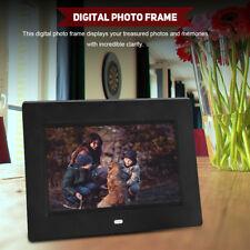 "7"" Cornice Digitale Photo Frame Album Calendario/Video/Musica Lettore Sveglia"
