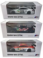 3 X BMW M4 DTM CARS RED BULL ICE WATCHES SHELL OIL 1/64 BMW DEALER MODELS X3