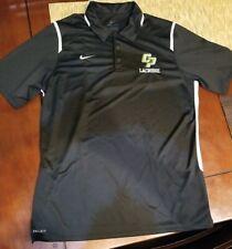 Nike Dri-Fit Cal Poly Polo Shirt Mens Large - Black w/ White Accents Lacrosse