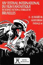 Mézières Mini-calendrier 14°Festival Internat. Film Fantastique+S-F Bruxelles96