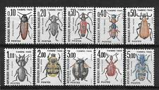 """Complete series of 10 new stamps ** Taxes 1983. """" Insects """"    (4124)"""