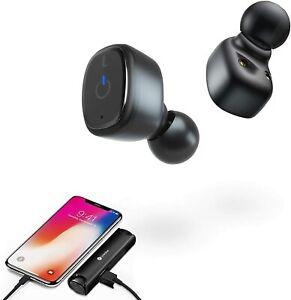 True Wireless Earbuds Dual Mic Clear HD Calls Bluetooth 5.0 TWS in-Ear Earphones