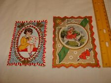 "Vintage Valentine's Day cards - ""Whitney Made"" Little Girls 1940's"