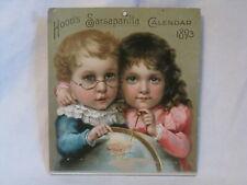 antique HOOD'S Sarsaparilla Calendar 1893 The Young Explorers Astronomical promo