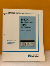 Hp / Agilent 08662-90061 Hp 8662A Synthesized Signal Generator Service Manual