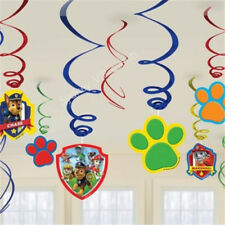 PAW PATROL HANGING SWIRLS VALUE PACK 12PK PARTY SUPPLIES SWIRLING DECOR CEILING