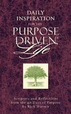 Daily Inspiration for the Purpose Driven Life by Rick Warren Christian book
