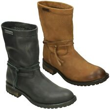 LADIES MID CALF CASUAL LEATHER WIDE FIT BIKER BOOTS HARLEY DAVIDSON SICILIA