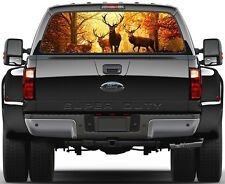Deere Buck Fall Forest Rear Window Graphic Decal for Truck SUV Vans