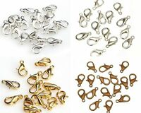 100pcs Bulks Plated Lobster Parrot Clasp Charms Findings 10mm 12mm 4 Colors