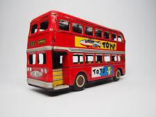 Vintage 1960's Metal Tin Friction Toys Double Decker Bus Mf 844