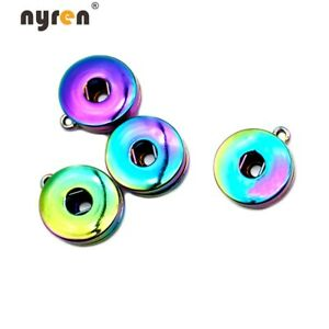 50pcs Plated Charms Snap Button Base Accessories For 18mm DIY Snap Jewelry S