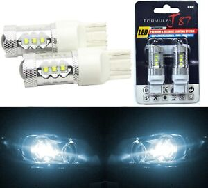 LED Light 80W 7440 White 6000K Two Bulbs Back Up Reverse Replace Plug Play