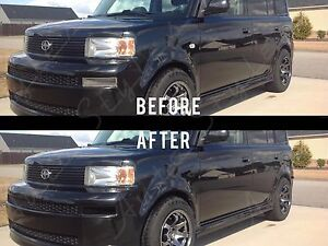2003-2006 Scion XB Smoked Side Markers AND FOG LIGHT FULL Tint Overlay Kit