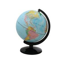"12"" Blue Ocean World Globe Table Top Political Map Modern Style New"