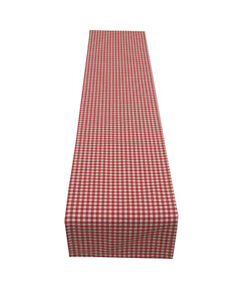 Christmas Red Gingham Check fabric table runner place mats napkins Handmade