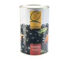 Pitted Black Olives | 4.35kg - 2.5Kg Dry weight | Spanish Olives - Catering Size