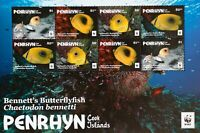 PENRHYN (Cook Islands)-Butterflyfish-WWF,M/Sh., MNH**,337C