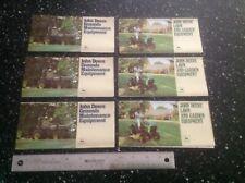 John Deere Lawn & Garden Tractor Brochures 12 Total New Old Stock