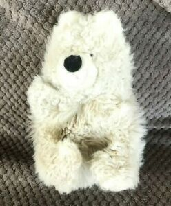 """Fluppets By Furrytails White Bear Hand Puppet 11"""" Soft Toy"""