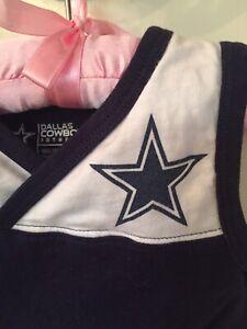 Dallas Cowboys Toddler Girl Baby Size 2T Sleeveless Cheer Dress NFL Football