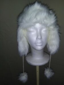 Claires NEW Furry Trapper Hat White-lined-NWT($24.99)-(C19)