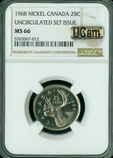 1969 CANADA 25 CENTS NGC MS-66 UCAM FINEST MAC SPOTLESS *