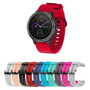 For Garmin Vivoactive 3 / Music Replacement Silicone Fitness Wrist Band Strap