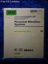 Sony Bedienungsanleitung ZS M50 Mini Disc System (#2825)